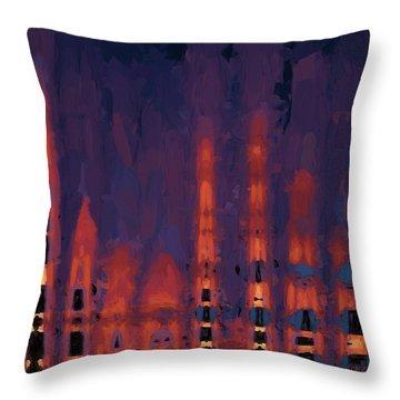 Color Abstraction Xxxviii Throw Pillow by Dave Gordon