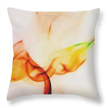 Color And Smoke I Throw Pillow