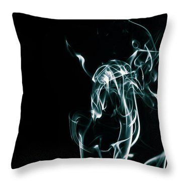 Color And Smoke Iv Throw Pillow