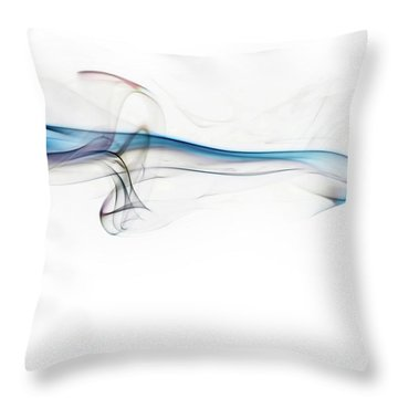 Color And Smoke V Throw Pillow