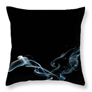 Color And Smoke Vi Throw Pillow