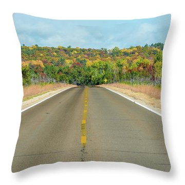 Color At Roads End Throw Pillow