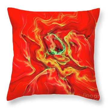 Throw Pillow featuring the digital art Color Blast by Deborah Benoit
