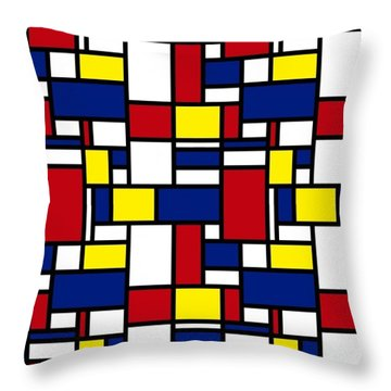 Color Box Throw Pillow by Now
