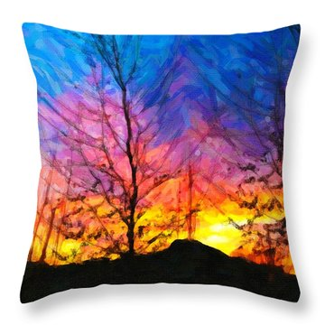 Color Burn Throw Pillow