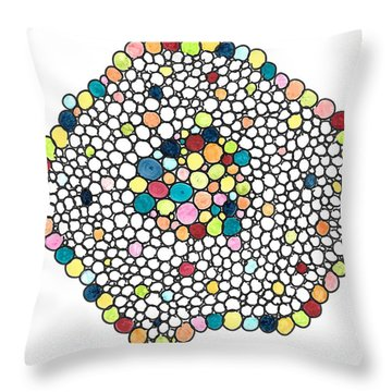 Color Cells Throw Pillow