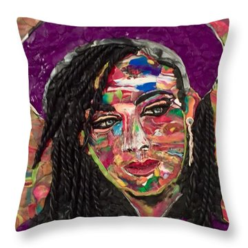 Color Chameleon Throw Pillow