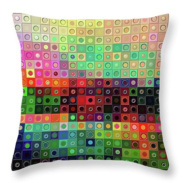 Throw Pillow featuring the digital art Color Coded by Wendy J St Christopher