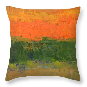 Throw Pillow featuring the painting Color Collage Four by Michelle Calkins