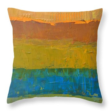 Throw Pillow featuring the painting Color Collage Three by Michelle Calkins