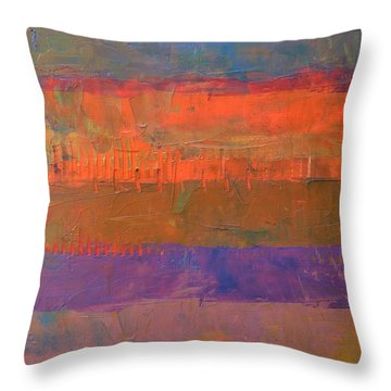 Throw Pillow featuring the painting Color Collage Two by Michelle Calkins