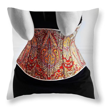 Throw Pillow featuring the photograph Color Corset by Andrey  Godyaykin
