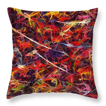 Color Crayons Throw Pillow by Anton Kalinichev