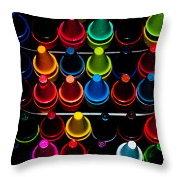 Throw Pillow featuring the photograph Color Creation by Colleen Coccia
