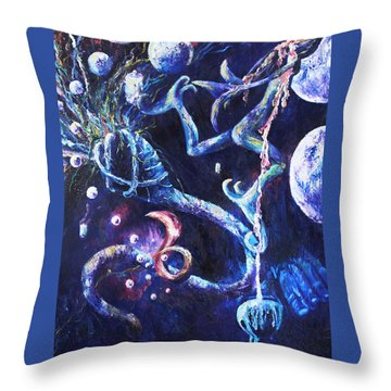 Color Creation Myth Throw Pillow by Shelley Irish