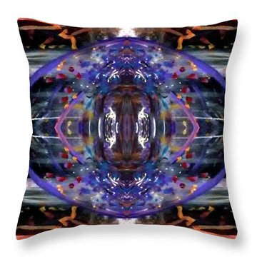 Throw Pillow featuring the digital art Color Eye by Michelle Audas