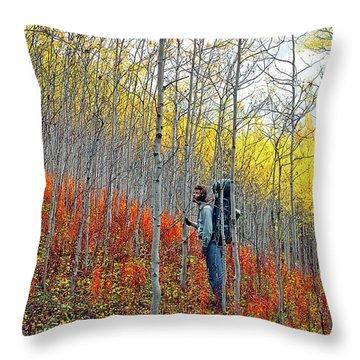 Color Fall Throw Pillow