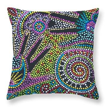 Color Fantasy Throw Pillow