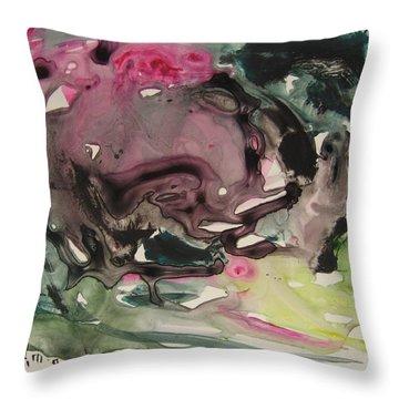 Color Fever 115 Throw Pillow by Seon-Jeong Kim