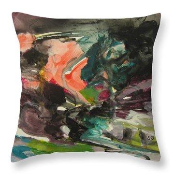 Color Fever111 Throw Pillow by Seon-Jeong Kim