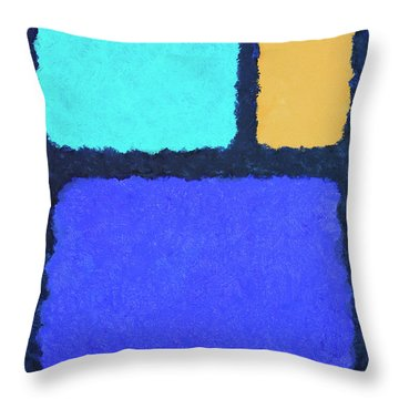 Throw Pillow featuring the painting Color Fields by Jutta Maria Pusl