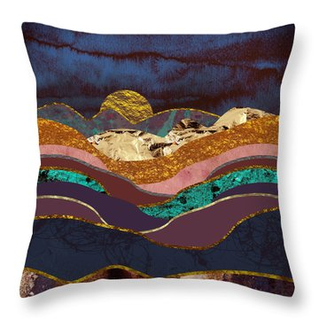 Color Fields Throw Pillow