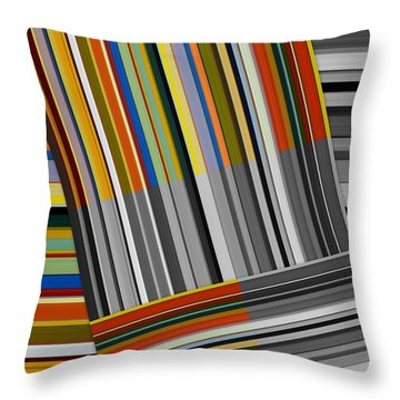 Throw Pillow featuring the digital art Color In Black And White by Michelle Calkins
