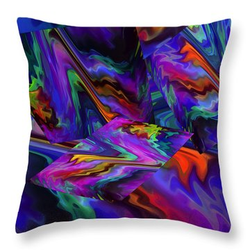Throw Pillow featuring the digital art Color Journey by Lynda Lehmann