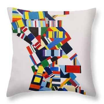 Color Linked To Personality Throw Pillow