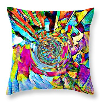 Color Lives Here Throw Pillow
