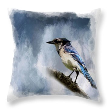Color Me Blue Throw Pillow by Cyndy Doty