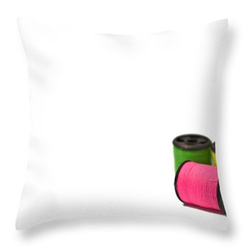 Color Me Happy Throw Pillow by Evelina Kremsdorf