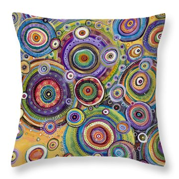 Color Me Happy Throw Pillow by Tanielle Childers