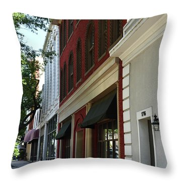 Throw Pillow featuring the photograph Color Me Main St Usa by Skip Willits