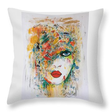 Color Me.... Throw Pillow