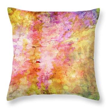 Color Me Spring Throw Pillow
