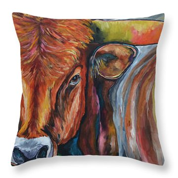Color Me Texas Throw Pillow by Patti Schermerhorn