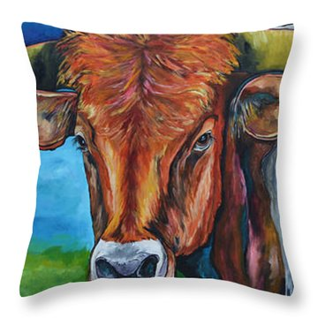 Color Me Texas Throw Pillow