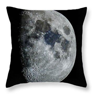 Color Moon Throw Pillow