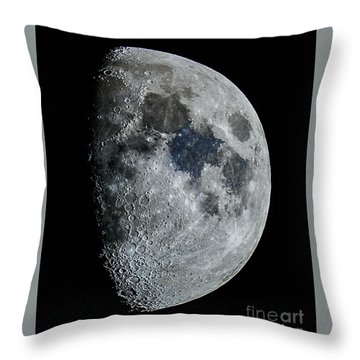Color Moon Throw Pillow