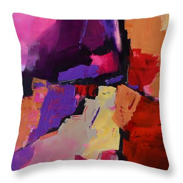 Color My Dreams - Art By Elise Palmigiani Throw Pillow