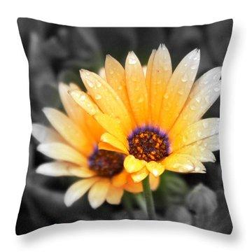 Color My Petals Throw Pillow