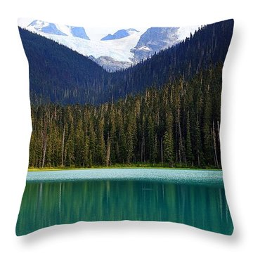 Lower Joffre Lake Throw Pillow