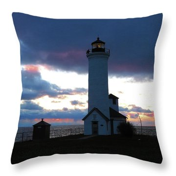 Color Of December, Tibbetts Point Lighthouse Throw Pillow