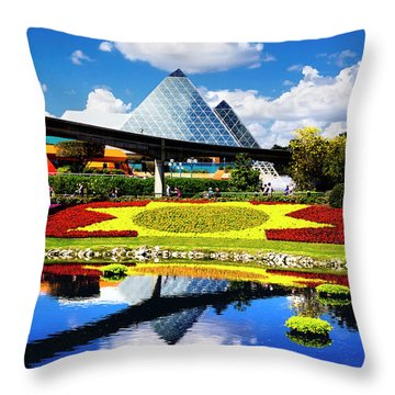 Color Of Imagination Throw Pillow by Greg Fortier