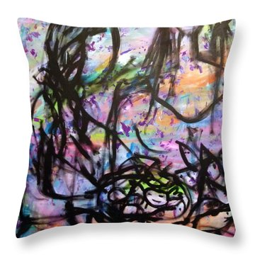 Color Of Lifes Throw Pillow