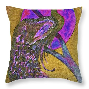 Color Of Pink Throw Pillow