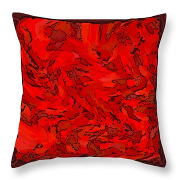 Color Of Red Vi I Contemporary Digital Art Throw Pillow