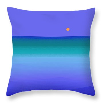 Throw Pillow featuring the digital art Color Of Water by Val Arie