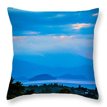 Color Over The Lake Throw Pillow